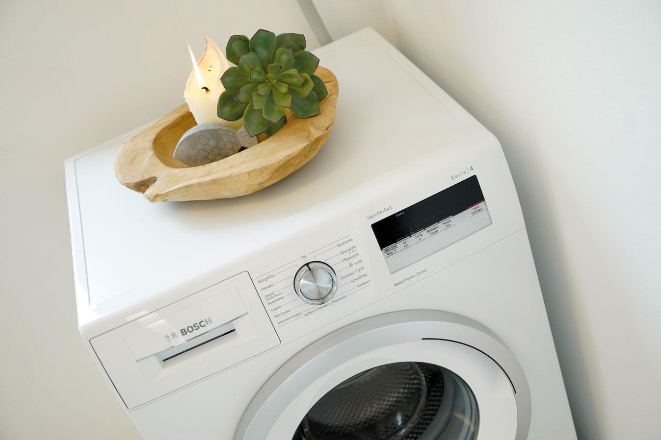 Eigene Waschmaschine im Haus
